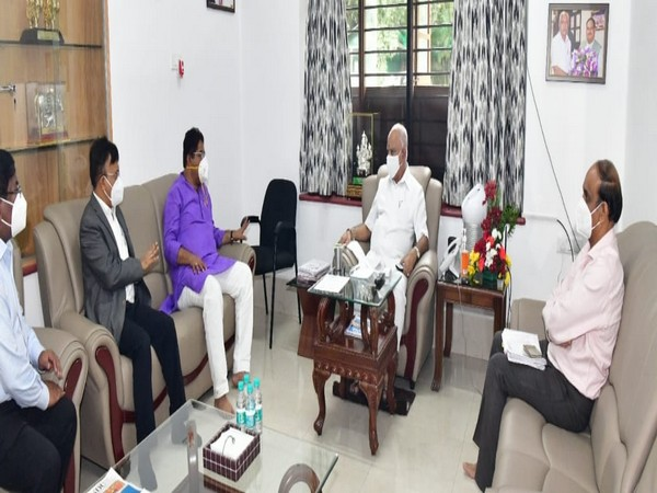 Karnataka Chief Minister B S Yediyurappa held a meeting over rainfall situation