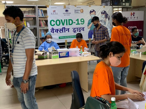 Covid-19 vaccination drive conducted by NGOs for underprivileged n Delhi. (Photo/ ANI)