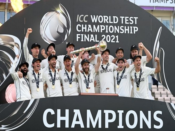 New Zealand players after winning the WTC (Photo/ ICC Twitter)