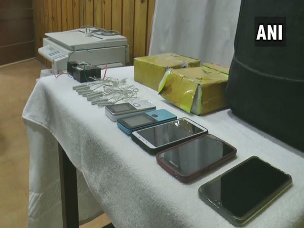 The seized items on display after five PLA members were arrested on Sunday. photo/ANI