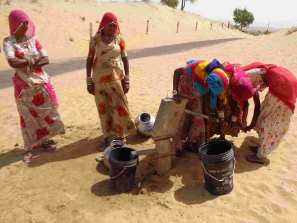 A group of women fetching water in Rajasthan