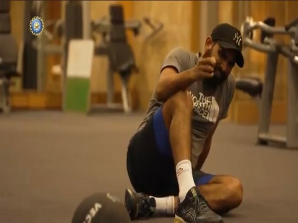 Mohammed Shami in the gym. (Photo/ BCCI twitter grab)