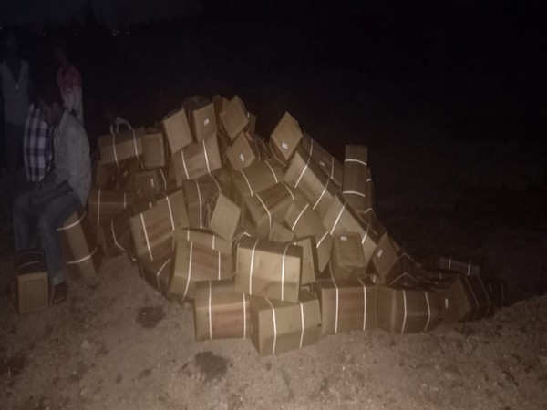 Police seized 8,900 kg of explosives and nabbed two persons.