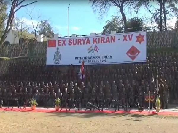 Soldiers of Indioa and Nepal at the Surya-Kiran 15 (Photo/ANI)