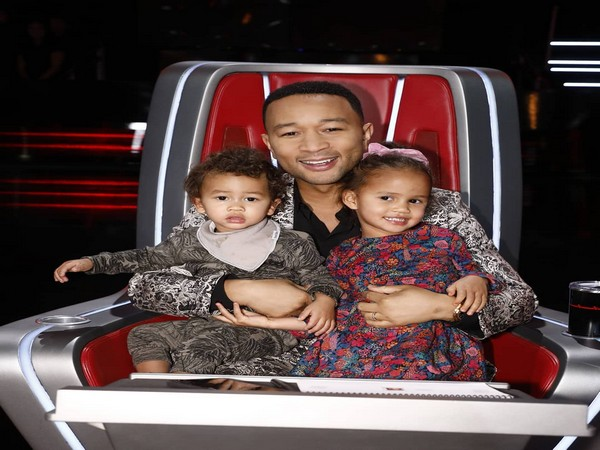 John Legend with his kids, Miles and Luna (Image courtesy: Instagram)