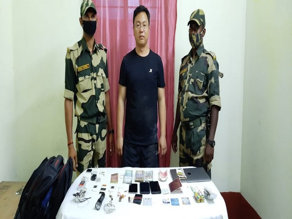 Han Junwe, the Chinese national apprehended by the BSF in West Bengal's Malda. (Photo/ANI)