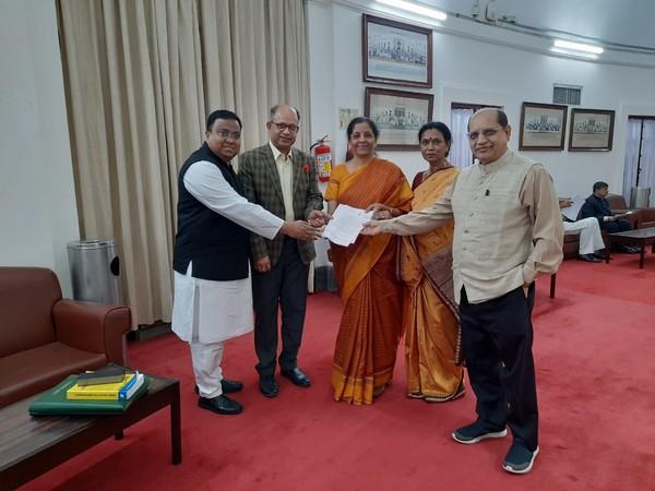 BJD MP's Prasanna Acharya, Amar Patnaik, Sarojini Hembram and Sasmit Patra met Sitharaman in New Delhi. Photo/ANI