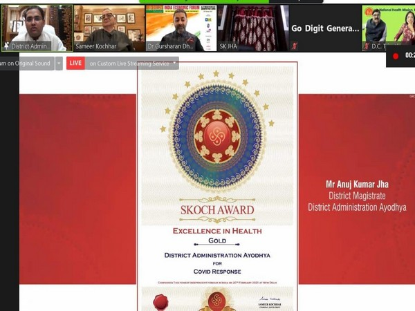 Ayodhya district admn receives Skoch Gold Award for COVID-19 management