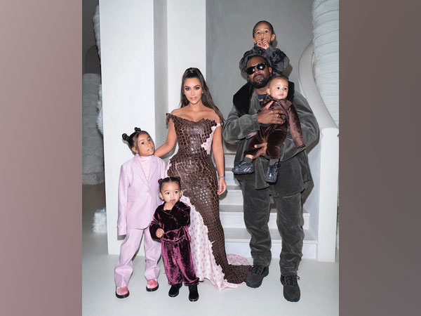 Kim Kardashian West with husband Kanye West, and children North, Saint, Chicago and Pslam. (Image courtesy: Instagram)