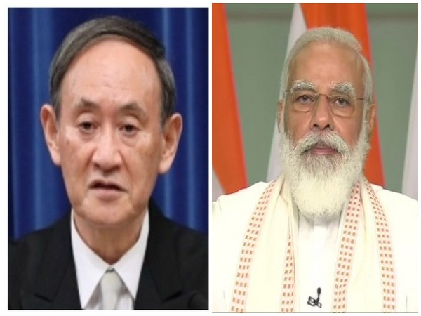 Prime Minister of Japan Yoshihide Suga and Prime Minister Narendra Modi