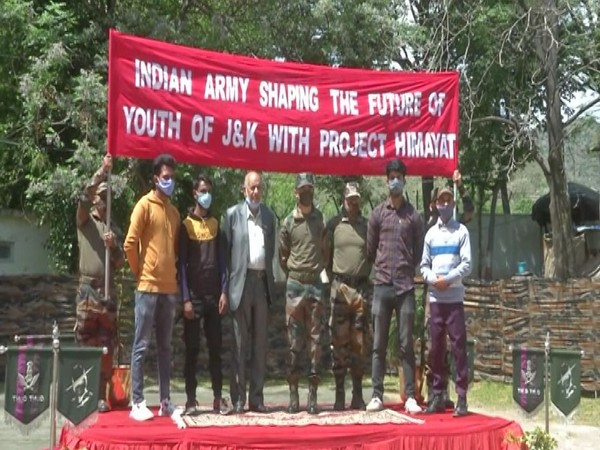 Indian Army sent 12 youth from Poonch for training in Jammu under Himayat program. [Photo/ANI]