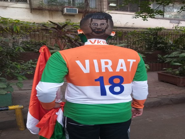 Fan of Virat Kohli engraves Indian skipper's face on his head