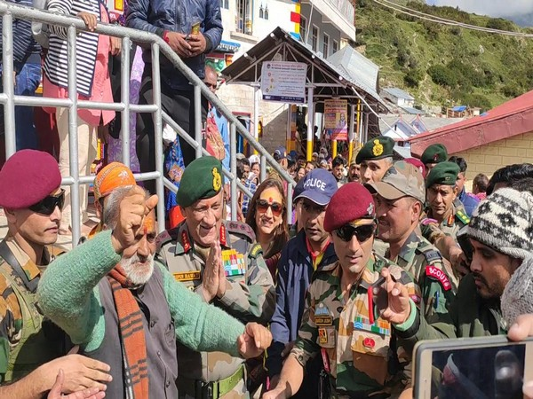 Army Chief General Bipin Rawat at Badrinath temple on Thursday. [Photo/ANI]