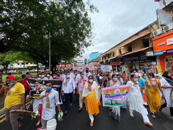 Goa Pradesh Congress Committee holds rally against price rise.
