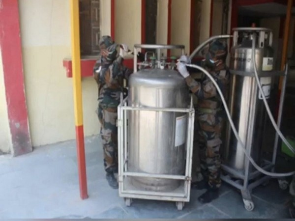 Indian Army personnel working towards providing solutions for efficient conversion of oxygen.
