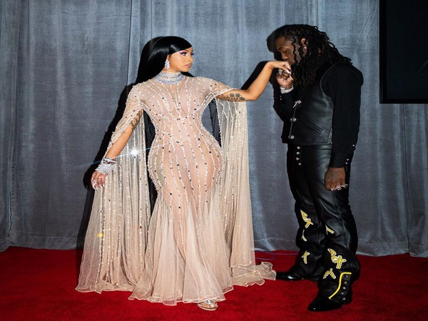 Rapper Cardi B with husband Offset. (Image Source: Instagram)
