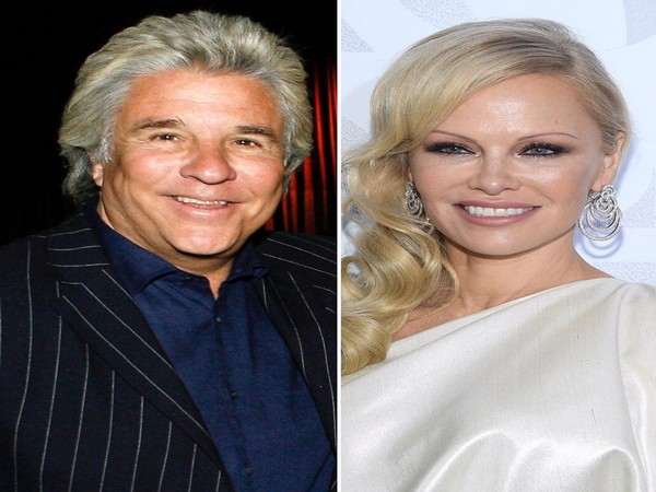 American producer Jon Peters and actor Pamela Anderson