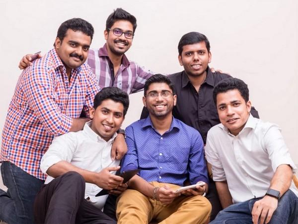 From left to right: Co-Founders of Riafy (Standing) Sreenath K.V., Benoy Joseph, Neeraj Manoharan, (Sitting) Joseph Babu, John Mathew, Benny Xavier