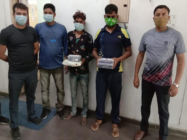 Uttarakhand STF team along with the arrested accused. (Photo/ANI)