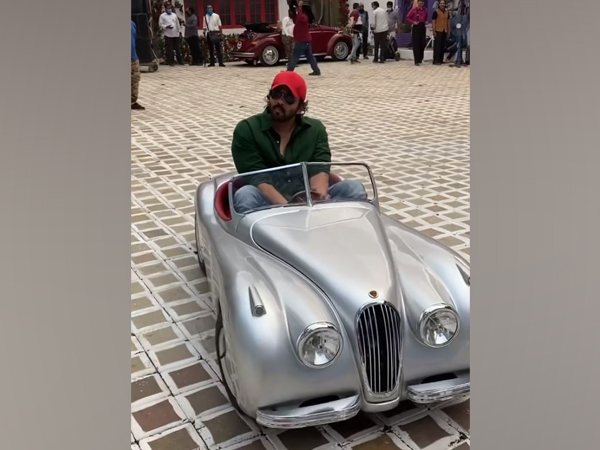 Rohit Shetty hilariously rides a toy car on 'Cirkus' sets (Image Source: Instagram)