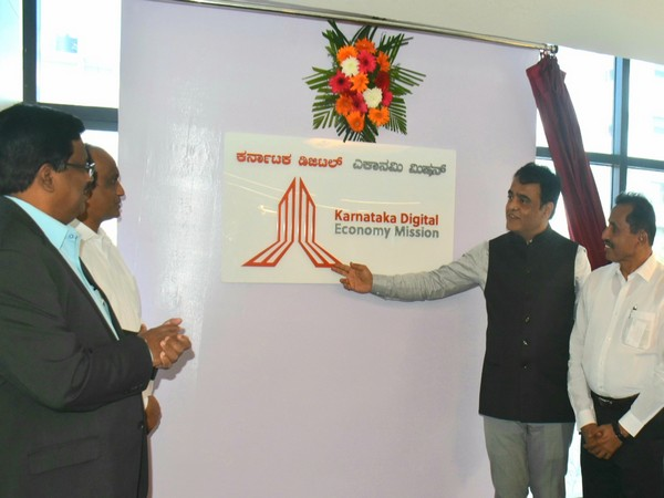 Dr CN Ashwatha Narayana at the inauguration of office of the Karnataka Digital Economy Mission (KDEM) on Tuesday (Photo/ANI)