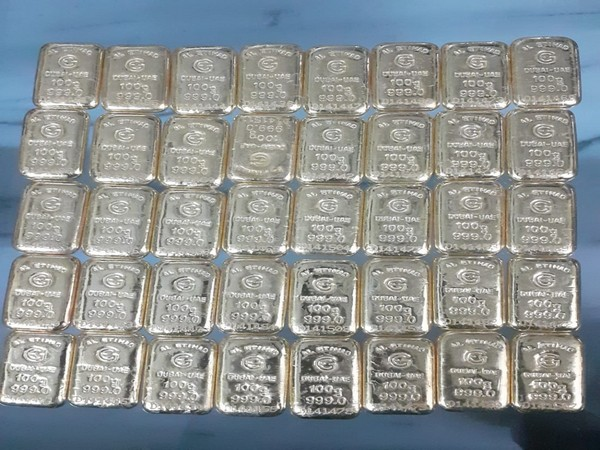 4 kilograms of gold seized in Secunderabad by DRI officials. Photo/ANI