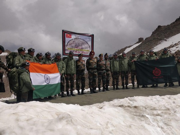 An Indian Army Team from 2 RAJRIF undertook a trekking expedition to Tololing Top to commemorate victory in Battle of Tololing during Kargil War.