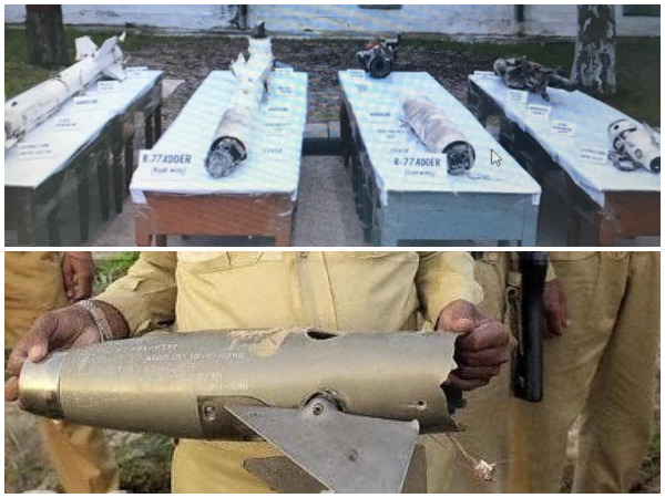 Image tweeted by DG ISPR (above),  picture of the Pakistani AIM 9L seeker head of the missile that shot an Indian UAV in 2002 (below)