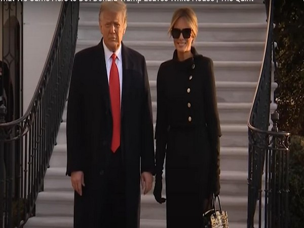 Former US President Donald Trump and his wife Melania Trump