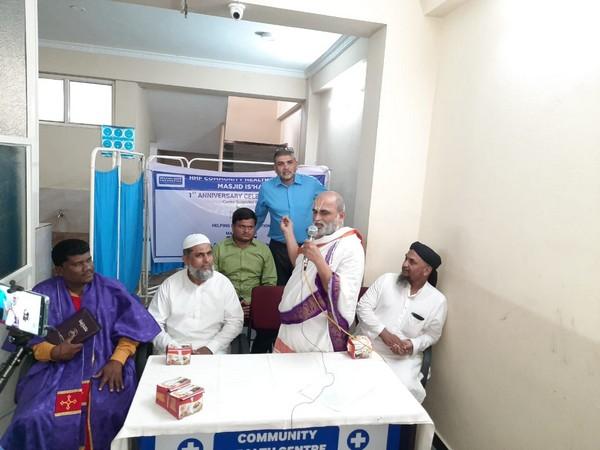 CS Rangarajan during his address at the interfaith interaction in Hyderabad on Friday. Photo/ANI