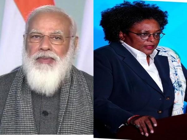 Prime Minister Narendra Modi and Barbados Prime Minister Mia Mottley (File photo)