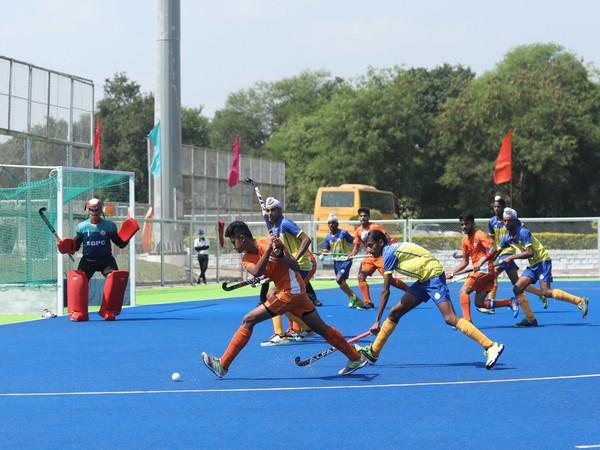 Semi-final action between Madhya Pradesh Hockey Academy and SGPC Hockey Academy. (Photo/ HI)