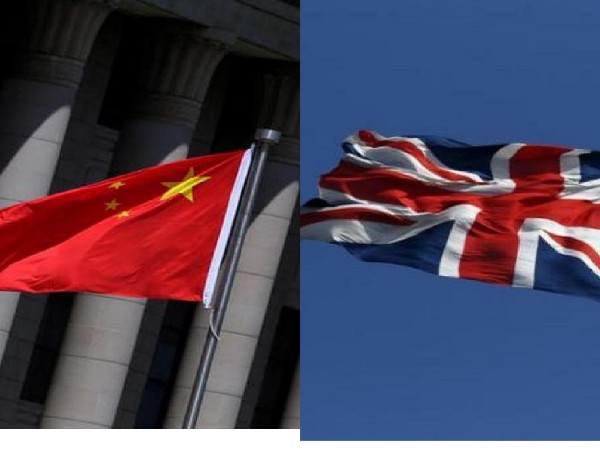 China and UK flags