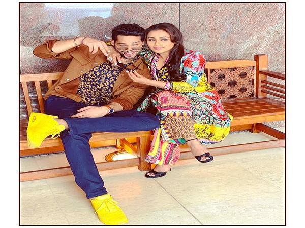 Siddhanth Chaturvedi and Rani Mukerji (Image courtesy: Instagram)