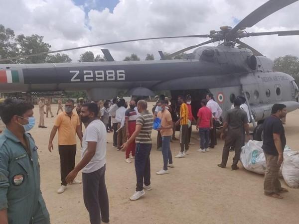 Visuals from flood relief efforts in Uttar Pradesh