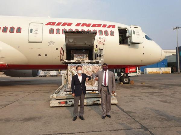 South Korean Ambassador Shin Bongkil and Srinivas Gotru, UNES Division Joint Secretary.