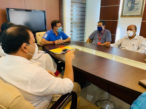 A meeting was held at Goa Medical College to review COVID-19 preparedness and testing facilities at the college.