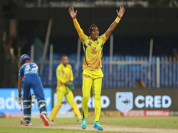 CSK all-rounder Dwayne Bravo in action against Delhi Capitals. (Photo/ iplt20.com)