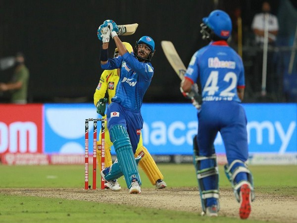 Delhi Capitals' Axar Patel in action against CSK. (Photo/ iplt20.com)
