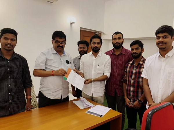 BJYM met Speaker Shri Rajesh Patnekar in Panaji and demanded Rohan Khaute's suspension from the ongoing assembly session. [Photo/ANI]