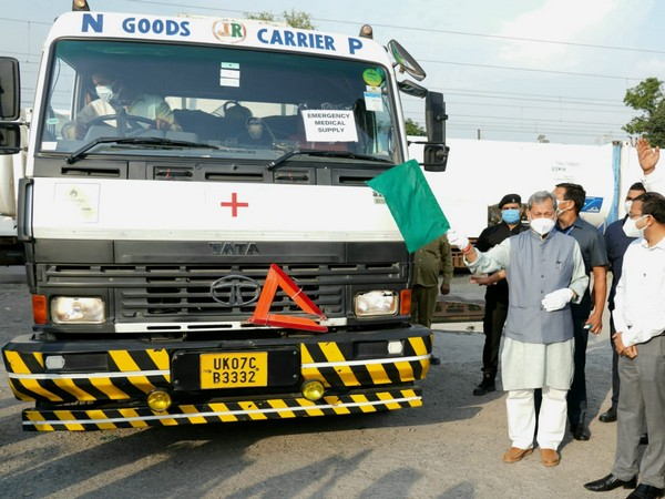 Uttarakhand Chief Minister Tirath Singh Rawat flag off Oxygen Express
