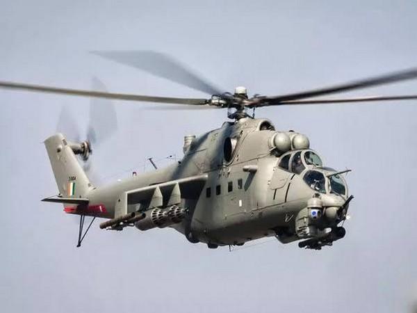 File pic of an IAF Mi-35 chopper