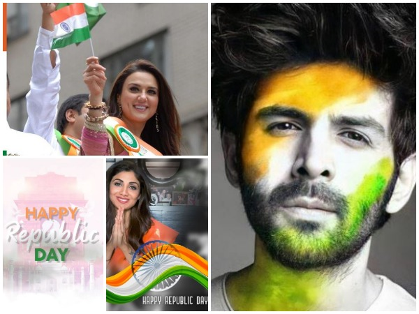 Collage of pictures shared by Bollywood stars (Image courtesy: Twitter/Instagram)