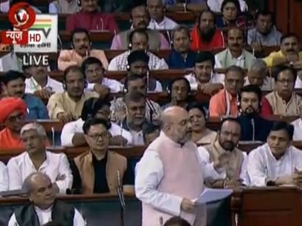 Union Home Minister Amit Shah in Lok Sabha (Courtesy Lok Sabha TV)