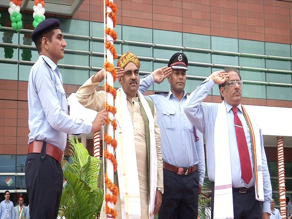 AAI chairman Anuj Aggarwal hoisted the national flag in New Delhi on Thursday