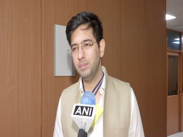 Aam Aadmi Party (AAP) leader Raghav Chadha speaking to ANI in New Delhi on Wednesday. Photo/ANI