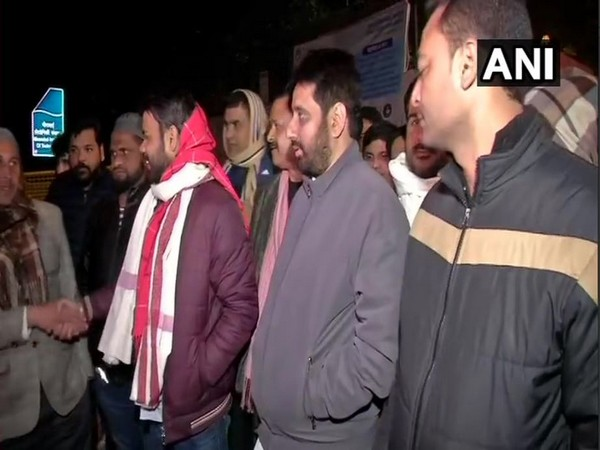 AAP candidates Amanatullah Khan and Praveen Kumar visited a strongroom in Maharanibagh on Monday.