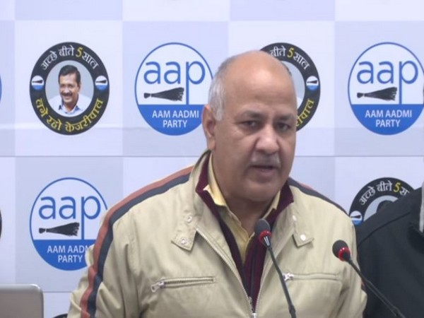 Delhi Deputy Chief Minister Manish Sisodia speaking at a press conference in New Delhi on Sunday. Photo/ANI