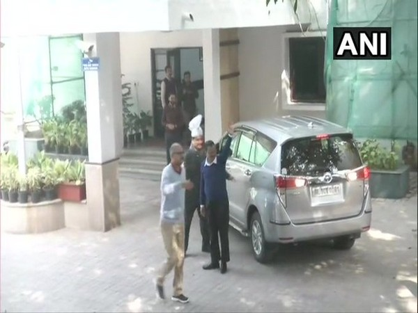 Newly-elected AAP MLAs arriving at the residence of CM-designate and AAP chief, Arvind Kejriwal here on Wednesday.