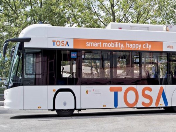 ABB's innovative flash-charge technology TOSA tops up the battery in just seconds